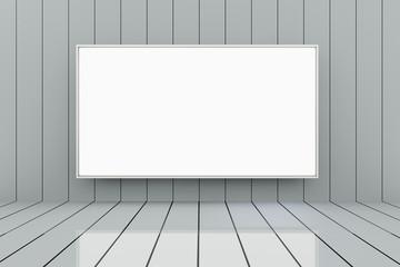 Room with big empty frame - 3D render