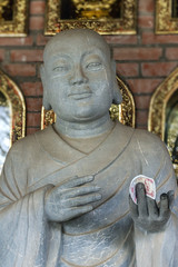 Vietnam Chua Bai Dinh Pagoda: Close up of Buddhist Philosopher w