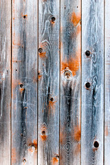 Wooden fence of smoky color