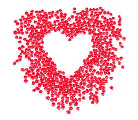 Heart shaped candy in shape of heart