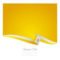 Vatican flag yellow background vector