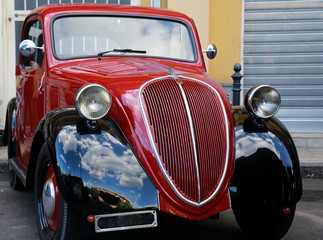 Photo on textile frame Old cars Balilla
