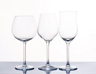 Elegant wine glasses.
