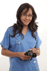 Asian american healthcare worker