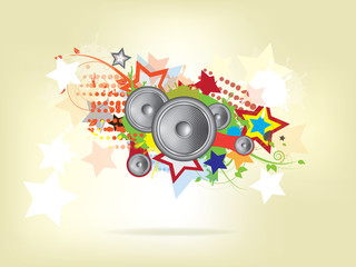 abstract music background with Sound Speaker