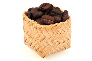 Aluminium Prints Coffee beans Panier de café en grains