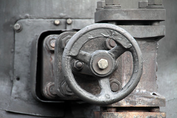Wall Mural - Detail einer Dampflokomotive