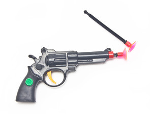 Dart gun with two darts, toys for boys.