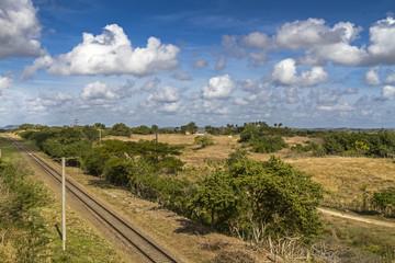 Bahnlinie auf Kuba