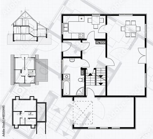 Floor plan blueprint vector illustration stock image and royalty floor plan blueprint vector illustration malvernweather Image collections