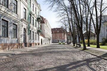 Латвия. Город Рига. Старые улицы
