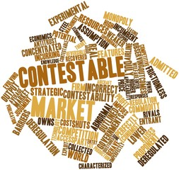 Word cloud for Contestable market