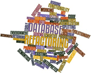 Word cloud for Database refactoring