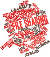 Word cloud for File sharing