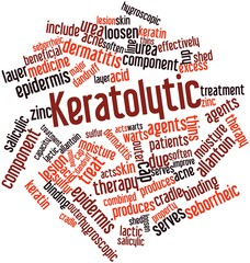Word cloud for Keratolytic