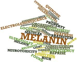 Word cloud for Melanin