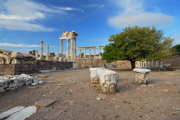 Pergamon-Pergamum Ancient City of Turkey and Anatolian-Bergama