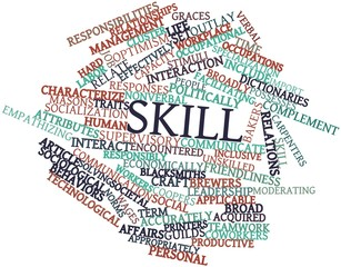 Word cloud for Skill