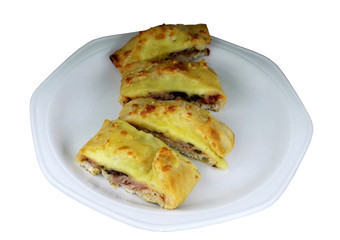 Pizza Pie Slices with Filling
