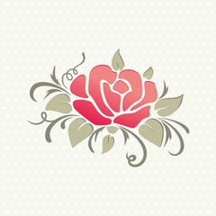 Rose. Vector decoration