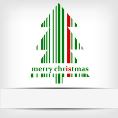 Abstract green Christmas tree barcode background