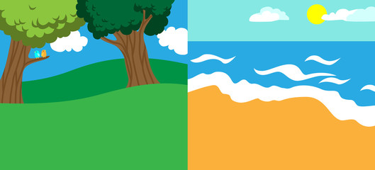 spring and summer background templates