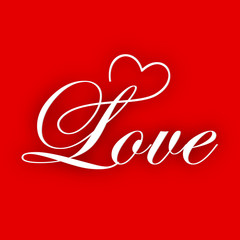 Beautiful Valentines Day love card or greeting card with text Lo