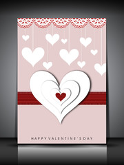 Happy Valentines Day greeting card, gift card or background. EPS