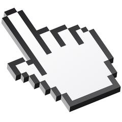 Papiers peints Pixel 3D Pixelgrafik Hand - Zeigefinger