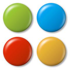 4 farbige Magnete