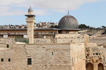 Al Aqsa mosque and   minaret.  Jerusalem