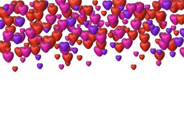 Many hearts background