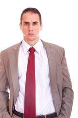 Business man posing