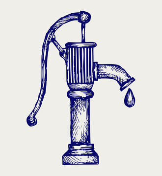 Water pump. Doodle style