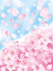 桜ふわり空_縦