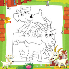 Poster de jardin Le vous même The coloring plate - illustration for the children
