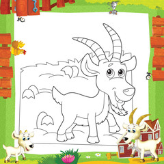 Foto op Textielframe Doe het zelf The coloring plate - illustration for the children