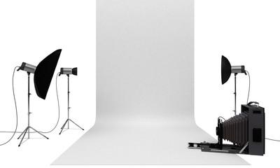 Set studio fotografico, pubblicità marketing