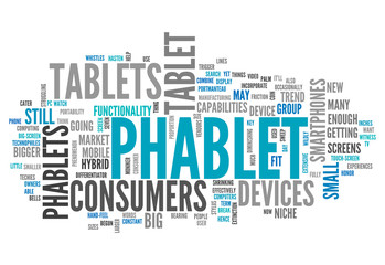"Word Cloud ""Phablet"""