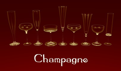 Champagne's glasses