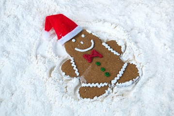 gingerbread man fun in snow