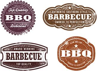 Vintage Style BBQ Barbecue Stamps