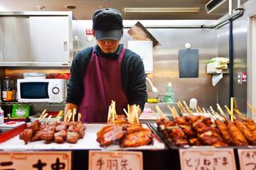 Japanese barbecue shopkeeper