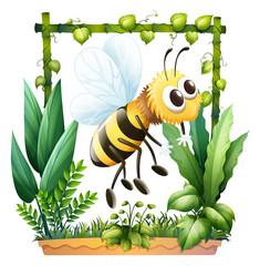 A bee in the garden