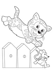 Fotorolgordijn Doe het zelf The coloring plate - illustration for the children