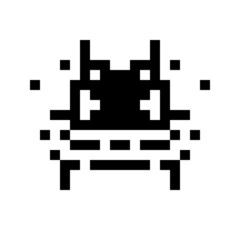 simple monster pixel face