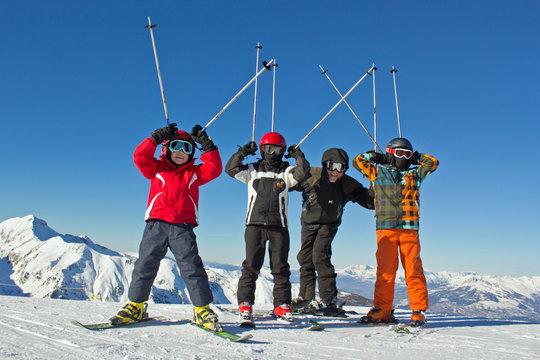 Père et fils au ski #2