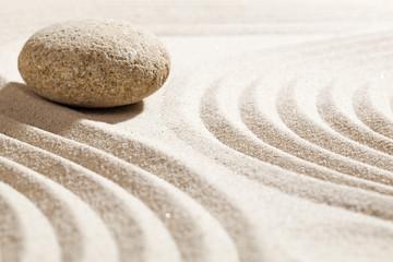 Foto op Plexiglas Stenen in het Zand feng-shui still-life