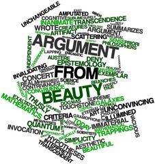 Word cloud for Argument from beauty