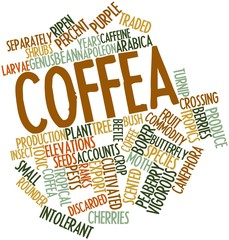 Word cloud for Coffea